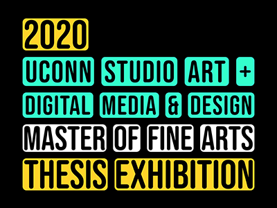 UConn DMD and Studio Art exhibition logo