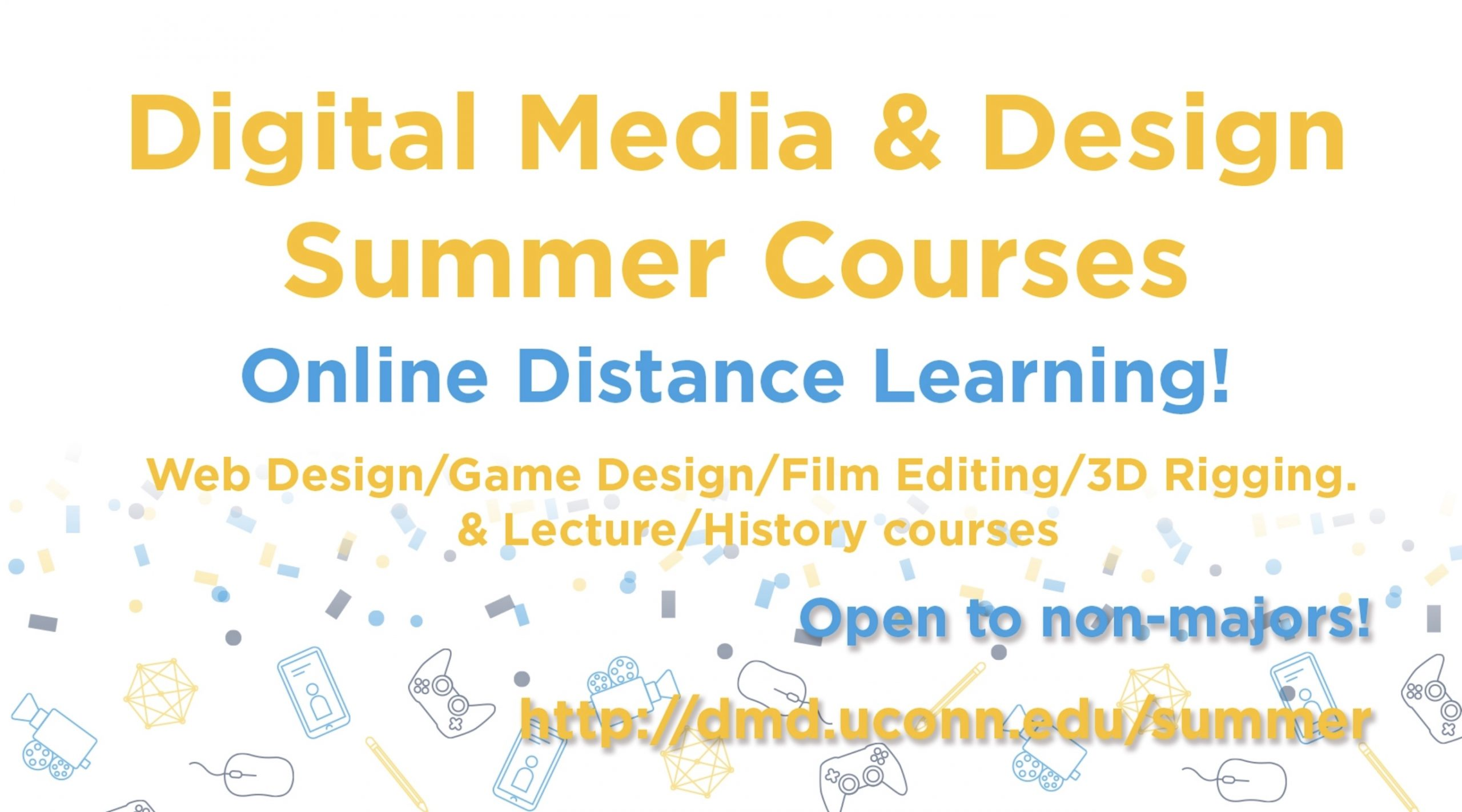 Digital media and design summer programs logo