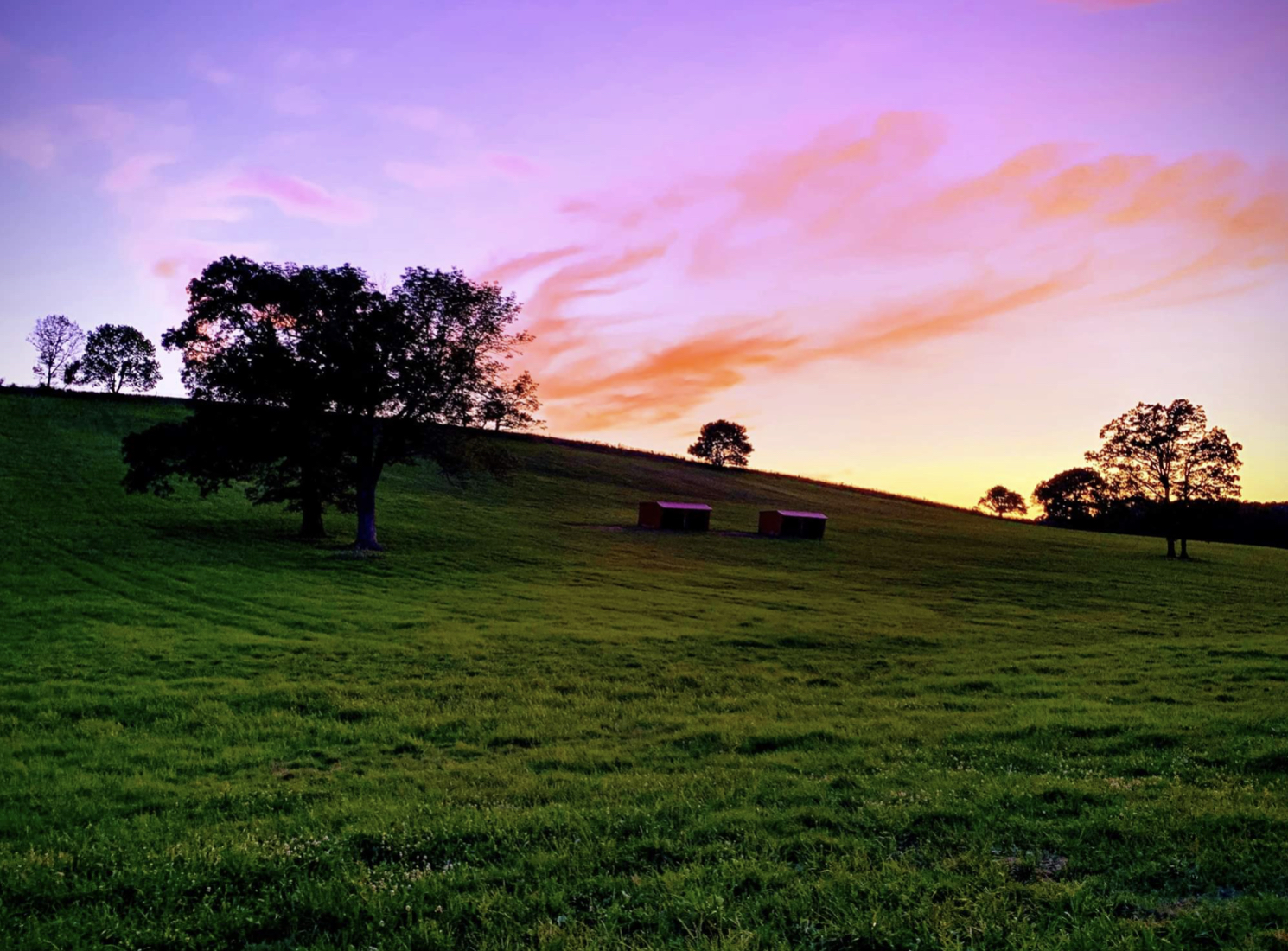 Photo of Horsebarn hill in Storrs, CT at sunset